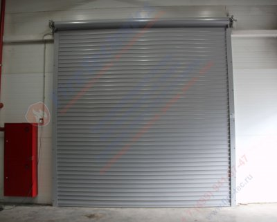 Рулонные ворота стальные марки FireTechnics M-80 для производственно складского комплекса в г. Красноармейске
